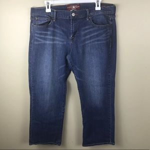 Lucky Brand Sweet Crop Capri Jeans 14/ 32